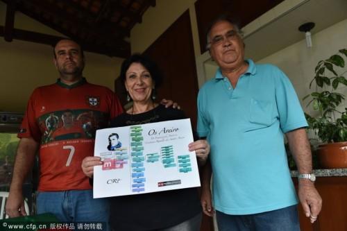 高清图-巴西一家庭自称为C罗远房亲戚