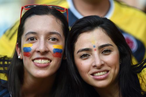 哥伦比亚乌拉圭球迷集锦