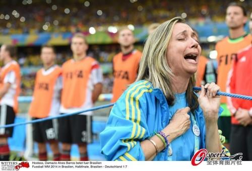 高清图-巴西输得惨女主播哭得更惨