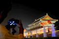 北京国庆夜景照明试亮灯