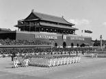 规模空前民兵方队参加1958年国庆阅兵