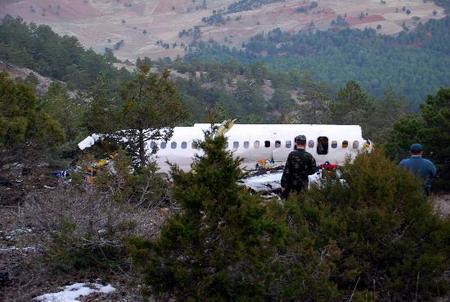 土耳其客机坠毁56人全部遇难(图)
