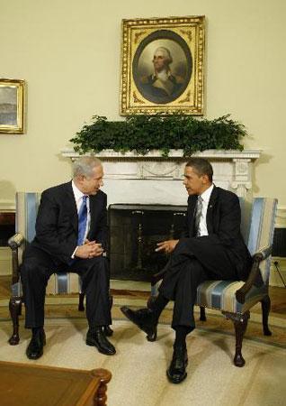 以色列总理访美与奥巴马首次会面(图)