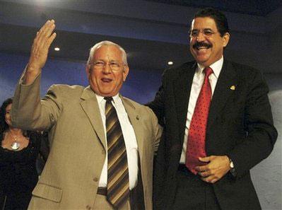 洪都拉斯议长米凯莱蒂宣誓就职代总统(图)