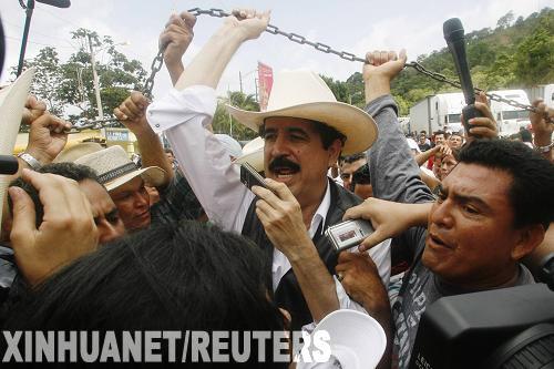洪都拉斯被罢免总统返回尼加拉瓜