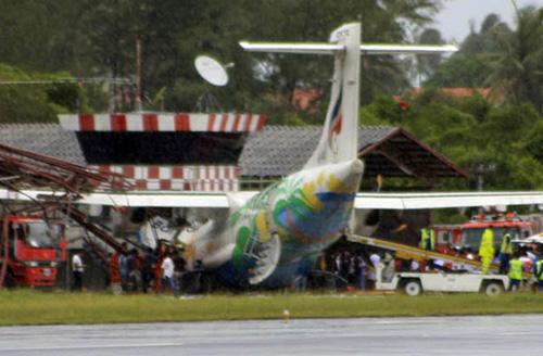 泰国客机冲出跑道事件各方对受伤人数报道不一
