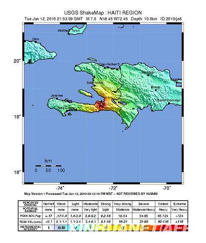 海地地区发生7.3级地震