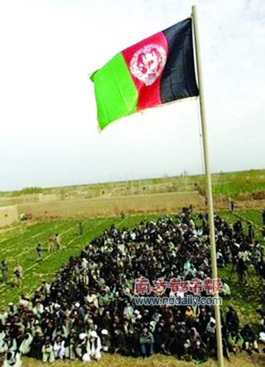 塔利班老巢升起阿富汗国旗 驻阿联军清剿塔利