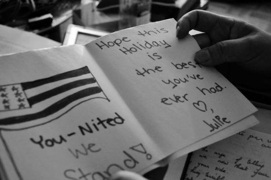 美国人寄给德宁的卡片。