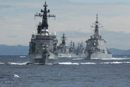资料图:日本海上自卫队护卫舰队