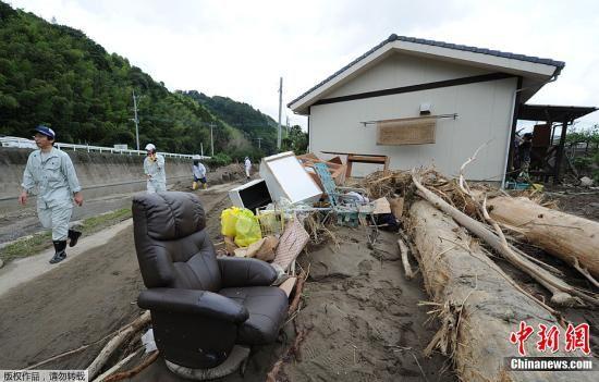据日本媒体7月16日报道,日本九州北部近日遭遇特大暴雨,图为7月16日拍摄的受灾地区灾情。