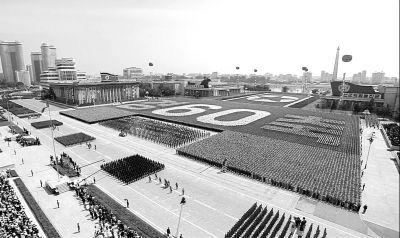 昨天,朝鲜在平壤金日成广场举行阅兵式,庆祝朝鲜战争停战60周年。图/东方IC