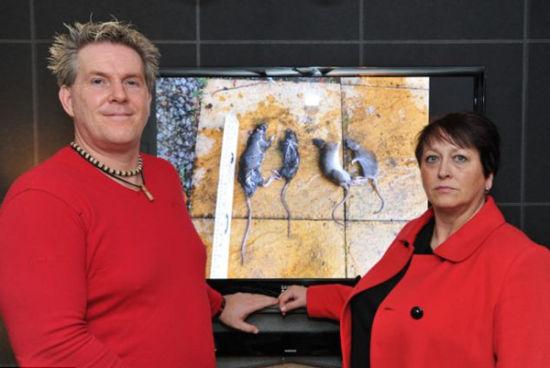索尼娅与凯文在家附近已看到数百只老鼠 图片来源:SWNS