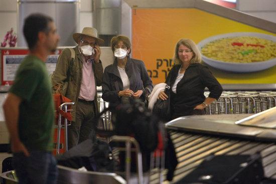 图文:以色列机场加强排查