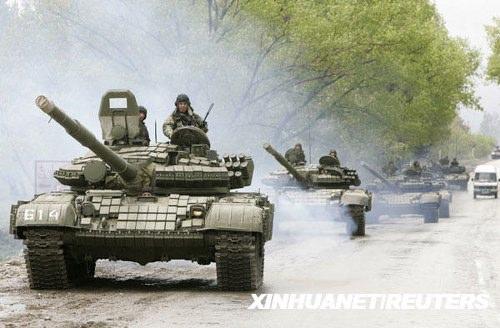 格鲁吉亚首都坦克营哗变俄方否认有牵连(图)