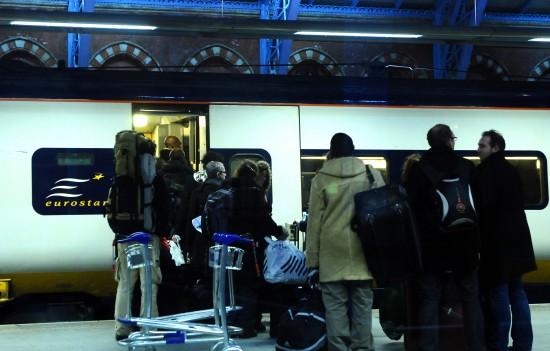 组图:欧洲之星列车部分恢复运行