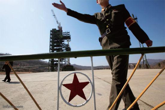 """朝鲜对外国媒体开放""""光明星3号""""卫星发射场。 (Ng Han Guan/东方IC/图)"""