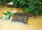 留隍镇一处房屋被洪水淹没