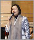 刘少奇女儿刘婷参加人大校庆活动