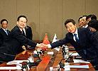 温家宝总理同韩国总统卢武铉会谈