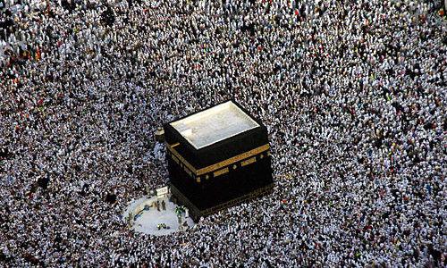 穆斯林朝觐圣地沙特麦加的天房