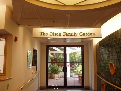 午餐前,我去游戏室隔壁的露天花园逛了逛,花园也在8楼。玻璃门外就是花园。
