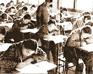 1977年高考现场资料图片