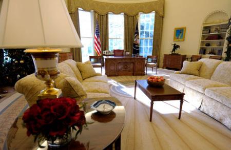 白宫椭圆形办公室渐成奥巴马风格(图)