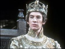 Ian McKellen as Richard II in a BBC production