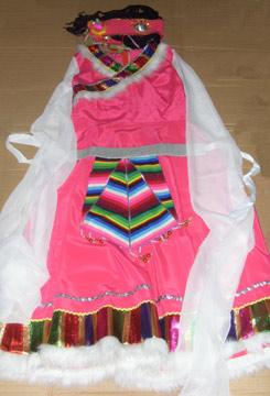 赵雪店里的售货员着装是统一的:清一色的美丽藏装。