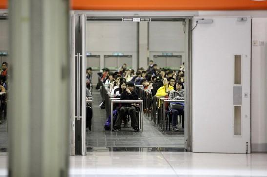 2014年1月25日,香港,SAT亚洲国际博览馆考场,SAT考试结束。