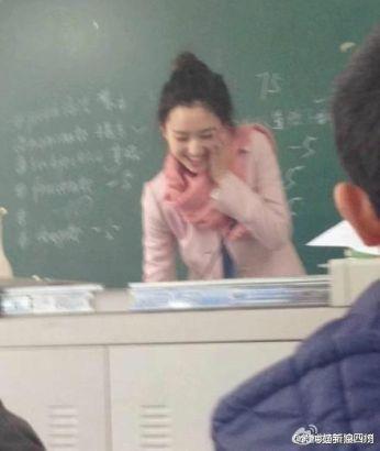川师美女英语老师爆红