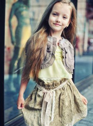 俄罗斯萝莉模特走红 妙龄少女明星范儿组图