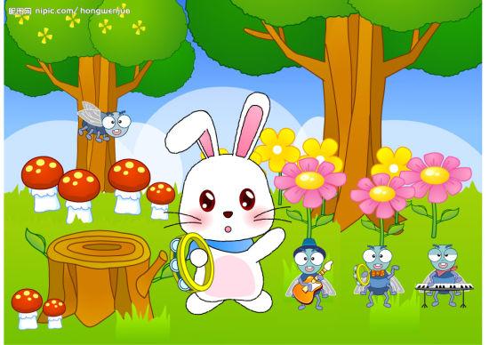 小兔子可爱形图片