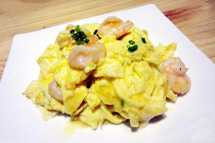 第五天晚餐:滑蛋鲜虾仁