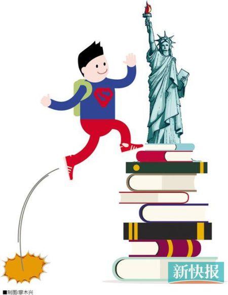 去美国读中学――有很多课程可以选 也有很多报告要写