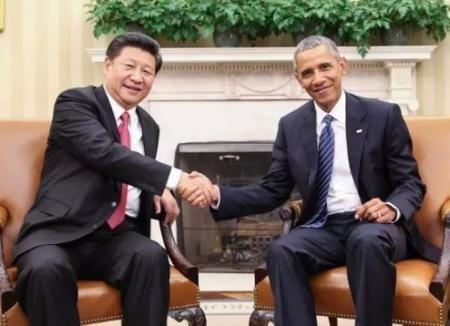 9月25日,国家主席习近平在华盛顿同美国总统奥巴马举行会谈。(新华网)