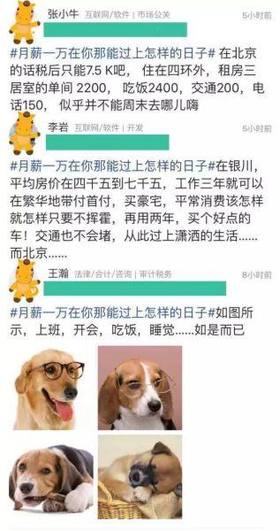 月薪一万在北京