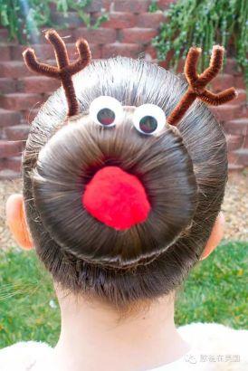 13. 感觉圣诞节来这个发型最应景了,红鼻子鲁道夫,好帅的说!