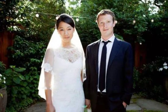 马克・扎克伯格和他的华裔妻子Priscilla Chan