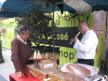 海外风情:欧洲街头幸福的棋迷(组图)