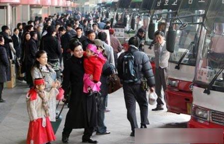 春节民族大移动:韩国人的春运(组图)