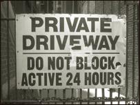 A sign