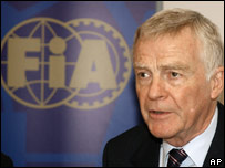 Max Mosely - president of the FIA