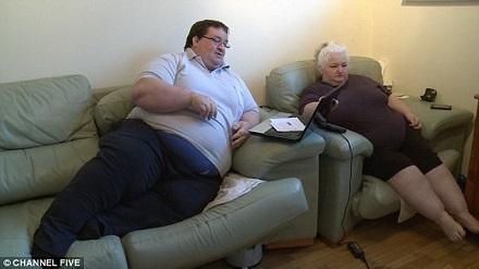 胖到无法工作宅在家月领1700英镑补助(图)