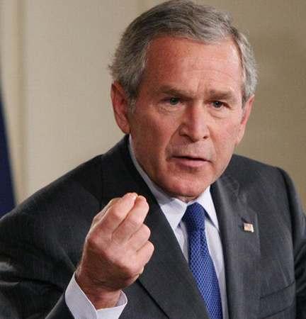 总统布什演讲捞金(组图)