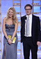 威尔森将莱弗利逗笑<br>合颁最佳系列剧奖