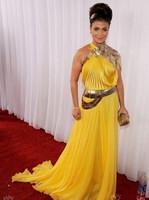 宝拉阿巴杜黄色礼裙
