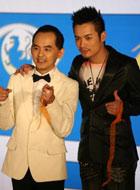 范逸臣(右)和黄子佼