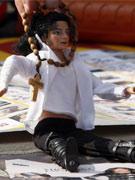 意大利歌迷自制玩偶